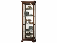 Howard Miller 680521 ELISE Cherry Bordeaux Collectors Cabinet-Floor