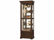 Howard Miller 680523 MANFORD Cherry Bordeaux Collectors Cabinet-Floor