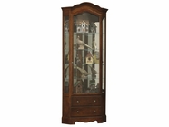 Howard Miller 680525 PHOEBE Cherry Bordeaux Collectors Cabinet-Floor