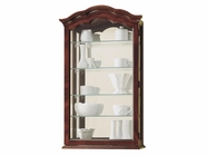 Howard Miller 685100 VANCOUVER Windsor Cherry Collectors Cabinet-Wall