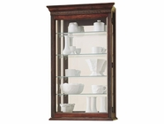 Howard Miller 685104 EDMONTON Windsor Cherry Collectors Cabinet-Wall