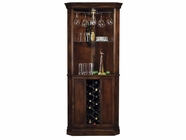 Howard Miller 690000 PIEDMONT Rustic Cherry Collectors Cabinet-Wine/Spirit