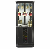 Howard Miller 690003 Piedmont Ii Worn Black Collectors Cabinet-Wine/Spirit