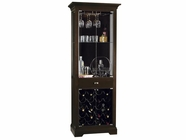 Howard Miller 690004 METROPOLIS Black Coffee Collectors Cabinet-Wine/Spirit