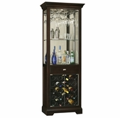 Howard Miller 690005 Gimlet Black Coffee Collectors Cabinet-Wine/Spirit