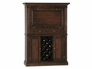 Howard Miller 690006 SENECA FALLS Americana Cherry Collectors Cabinet-Wine/Spirit