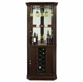Howard Miller 690007 PIEDMONT III Espresso Collectors Cabinet-Wine/Spirit