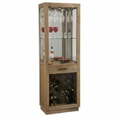 Howard Miller 690030 Sienna Bay Driftwood Collectors Cabinet-Wine/Spirit