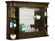 Howard Miller 693007 NIAGARA HUTCH RUSTIC CH Rustic Cherry Collectors Cabinet-Wine/Spirit