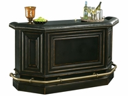 Howard Miller 693009 NORTHPORT BAR Worn Black (Brown Underto Collectors Cabinet-Wine/Spirit