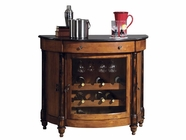 Howard Miller 695016 MERLOT VALLEY Vintage Umber Collectors Cabinet-Wine/Spirit