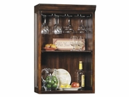 Howard Miller 695026 BELMONT HUTCH Rustic Cherry Collectors Cabinet-Wine/Spirit