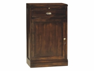 Howard Miller 695032 BELMONT LEFT Rustic Cherry Collectors Cabinet-Wine/Spirit