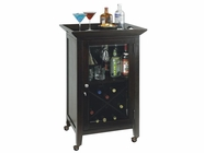 Howard Miller 695074 BUTLER Black Coffee Collectors Cabinet-Wine/Spirit