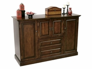 Howard Miller 695080 BAR DEVINO Americana Cherry Collectors Cabinet-Wine/Spirit