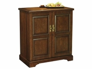 Howard Miller 695116 LODI Americana Cherry Collectors Cabinet-Wine/Spirit