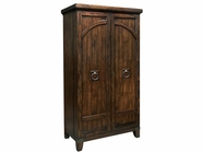 Howard Miller 695122 ROGUE VALLEY Rustic Hardwood Collectors Cabinet-Wine/Spirit