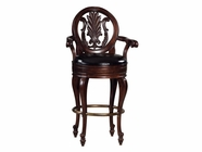 Howard Miller 697001 NIAGARA BARSTOOL Rustic Cherry Collectors Cabinet-Wine/Spirit