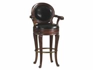 Howard Miller 697002 SARANAC BARSTOOL Americana Cherry Collectors Cabinet-Wine/Spirit