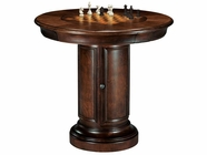 Howard Miller 699010 ITHACA PUB TABLE KI Hampton Cherry Collectors Cabinet-Wine/Spirit