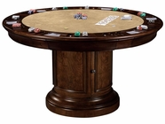 Howard Miller 699012 ITHACA GAME TABLE KI Hampton Cherry Collectors Cabinet-Wine/Spirit