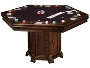 Howard Miller 699013 NIAGARA GAME TABLE KI Rustic Cherry Collectors Cabinet-Wine/Spirit