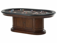 Howard Miller 699022 BONAVISTA GAME TABLE KIT Rustic Cherry Collectors Cabinet-Wine/Spirit