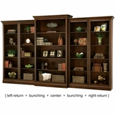 Howard Miller 920000-02-04-05 Oxford Cherry Wall Bookcase Set