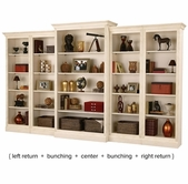 Howard Miller 920006 Oxford Vanilla Wall Bookcase Set