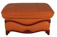 J. Horn C048 Ottoman in All Colors with Finish Wood Frame