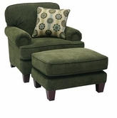JACKSON 3178-01 Darcy Chair in 2623-35 Cedar and 2625-22 Peacock
