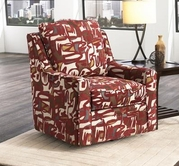 JACKSON 3289-01 Sutton Chair 1/2 in 2727-26 Doe and 2728-34 Scarlet