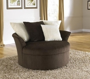 JACKSON 4429-66 Axis Swivel Chair in 2571-09 Chocolate and 2571-26 Snow