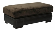 JACKSON 4442-10 Barkley Ottoman in 2334-09 Chocolate and 1216-09 Walnut