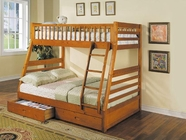 Jason Honey Oak Bunk Bed - Acme 2018A