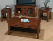 Jofran 036-1-3-7-9 VIEJO BROWN MISSION OAK FINISH OCCASIONAL TABLE SET