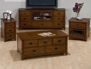 Jofran 037-5-6-7-9 MISSION HILL OAK FINISH OCCASIONAL TABLE SET