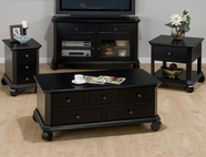 Jofran 038-5-6-7-9 BILLINGS BLACK FINISH Occasional Table collection