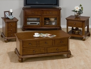 Jofran 039-5-6-7 KILLARNY CHERRY FINISH OCCASIONAL TABLE SET