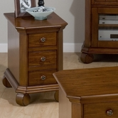 Jofran 039-7 KILLARNY CHERRY FINISH CHAIRSIDE TABLE with 3 DRAWERS