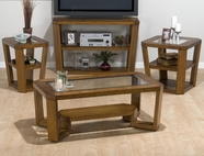 Jofran 053-1-3-7 ERNIE'S ELM FINISH OCCASIONAL TABLE SET