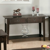 Jofran 081-4 Heirloom Oak Finish Sofa Table With 2 Drawers