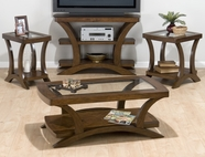Jofran 094-1-3-7 KIRSTIN CHERRY FINISH OCCASIONAL TABLE SET