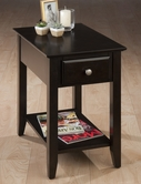 Jofran 1037-7 ESPRESSO FINISH CHAIRSIDE TABLE with BOOKMATCH INLAY