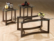 Jofran 107B-G BELLINGHAM BROWN FINISH 3 PACK OCCASIONAL TABLE SET