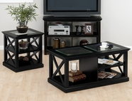 Jofran 227-1-3 RUTLAND BLACK FINISH OCCASIONAL TABLE SET