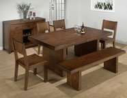 Jofran 252-75-4x736KD BRAEBURN ROUGH HEWN CHERRY FINISH DINING SET