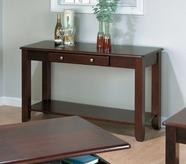 Jofran 280-4 VINTNER MERLOT FINISH SOFA TABLE with DRAWER AND SHELF