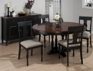 Jofran 293-48-4x713KD CHESTERFIELD TAVERN ROUND TO OVAL BUTTERFLY LEAF TABLE SET