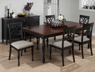 Jofran 293-76-4x154KD CHESTERFIELD TAVERN RECTANGLE LEG TABLE SET